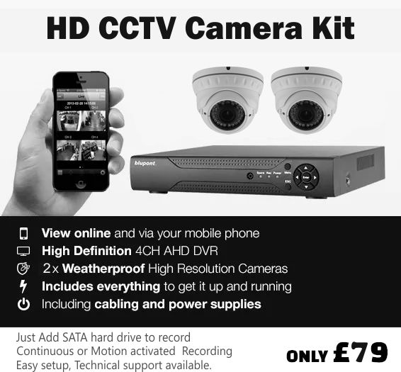 best price 2 camera cctv kit